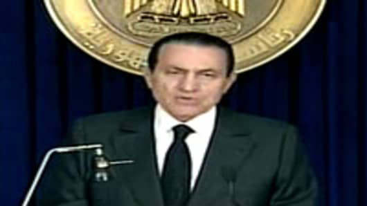 Egypt's Mubarak addresses nation