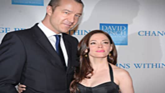 Actress Rose McGowan and guest attend the 2nd Annual David Lynch Foundation's Change Begins Within Benefit Celebration at The Metropolitan Museum of Art in New York City.