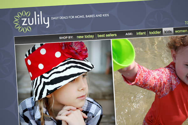 Website:   Zulily offers up to 70% off on bigger baby and children's items like strollers, bouncers, car seats, accessories, toys, as well as apparel including numerous organic clothiers.  Pedoodles shoes at 50% off  Many deal-a-day and group discount sites are aimed at families, including Kids.      and