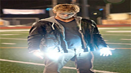 "Alex Pettyfer in scene from movie ""I am Number Four""."