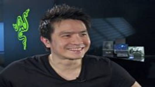 Min-Liang Tan, Co-founder of gaming hardware maker Razer. The company won the Best of CES People's Choice 2011 award with their latest product, the Razer Switchblade, a portable PC gaming device.