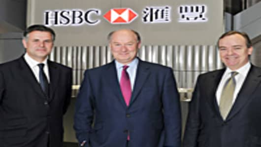 HSBC's new leadership team (from left): Group Finance Director, Iain MacKay; Group Chairman, Douglas Flint; and Group Chief Executive, Stuart Gulliver