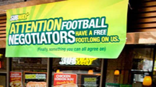 Subway Free Footlong for NFL Football Negotiators