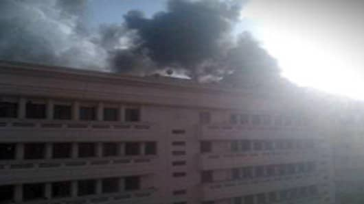 Ministry of Interior in downtown Cairo is reportedly on fire.