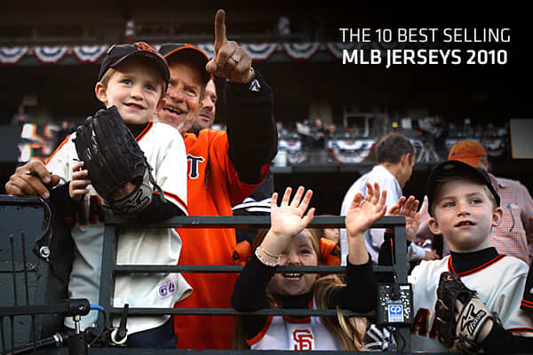 For years, the NBA and NFL have put out their best selling jersey sales. It's the best measure of marketability and popularity, since it's fans voting with their wallets. Major League Baseball, which set a record for merchandise sales last year, is entering the game with its top selling jerseys over the past year. Sales are from the 2010 calendar year and recorded by its official jersey maker Majestic. So, what were the best-selling MLB jerseys, by player, in the past year? Click ahead to find o