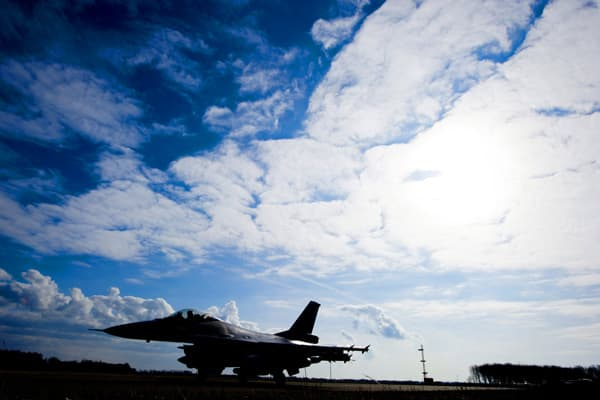 An F-16's takes off from Leeuwarden Airbase for the Italian island of Sardinia on March 24, 2011. The Netherlands contributed six F-16 fighter jets, about 200 soldiers, a mine hunter ship and a tanker plane to NATO efforts to enforce a Libyan arms embargo, the government said yesterday.
