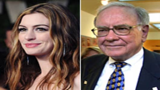 Anne Hathaway and Warren Buffett