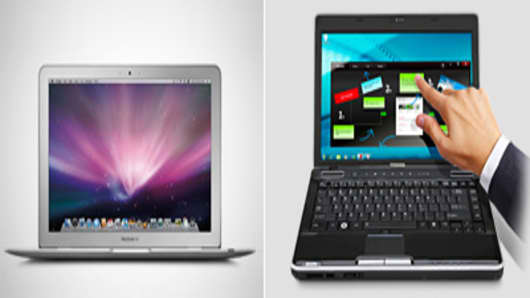 Apple Macbook Air and Toshiba Satellite