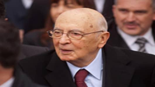 President of the Italian Republic Giorgio Napolitano