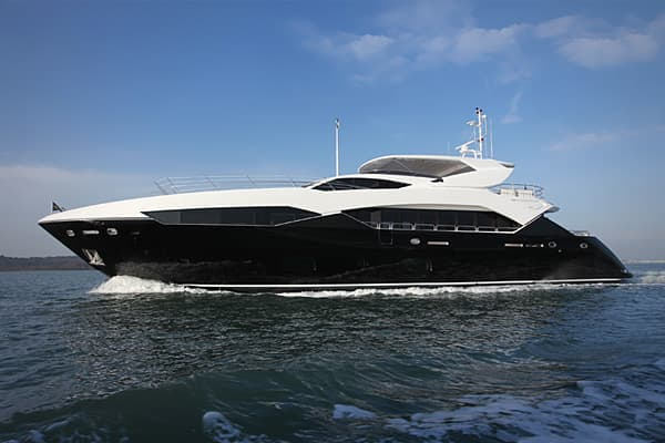 Suggested price: Starts at £8,840,000 or $14,349,088 Length: 111 feet 11 inches Manufacturer: Sunseeker Launched at the recent Tullett Prebon London International Boatshow, this boat comes with a sunpad, spa tub, wet bar, and accommodates a party of up to 10 in five cabins, with a crew of five. Still, it is smaller than the earlier Predator 130 that it was inspired by. Sunseeker has six of these models on order.