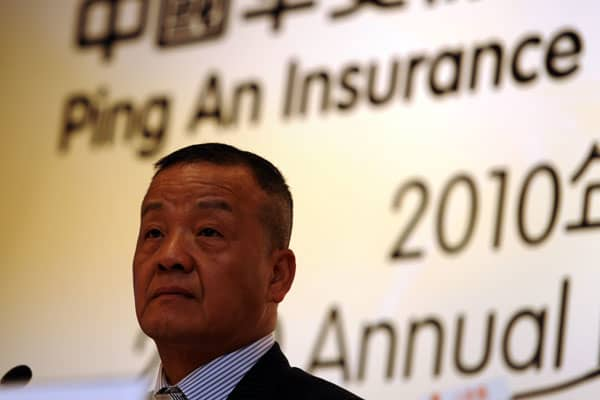 Peter Ma, Chairman and CEO Ping An Insurance, speaks at the companies' Annual Results press conference in Hong Kong on March 30, 2011. Tthe total income grew by 28.1 per cent year on year with net profit up by 23.9 percent.