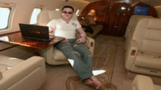 Gautam Singhania, Chairman and Managing Director (CMD) of Raymond Ltd sitting in his Challenger 604 Aeroplane in Mumbai, Maharashtra, India (Bhaskar Paul | The India Today Group | Getty Images)