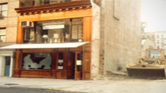 Felidia, flagship restaurant for celebrity chef Lidia Bastianich, under construction in the 1980s (Lidia's Italy)