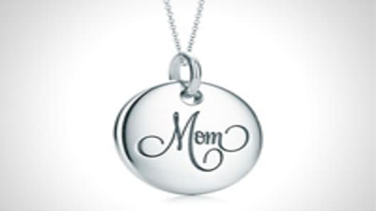 Tiffany Notes Mom disc charm and chain