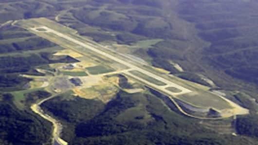 Aerial Photo of Branson Airport near Branson Missouri.