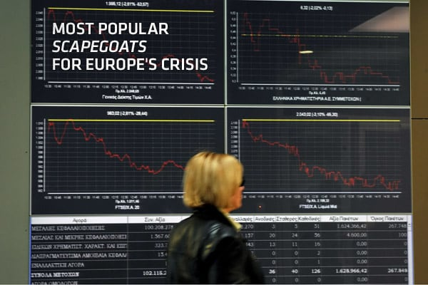 As a sovereign debt crisis rages in the euro zone and countries attempt to get to grips with a spiraling deficit, numerous views on who and what caused it have emerged and the inevitable blame game has begun.