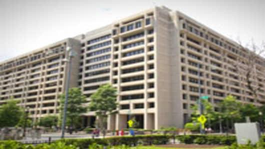 The International Monetary Fund (IMF) headquarters building in Washington, D.C.