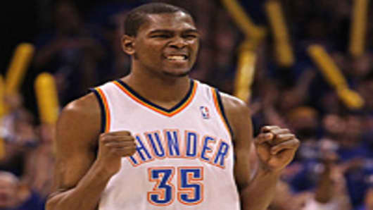 Forward Kevin Durant #35 of the Oklahoma City Thunder.