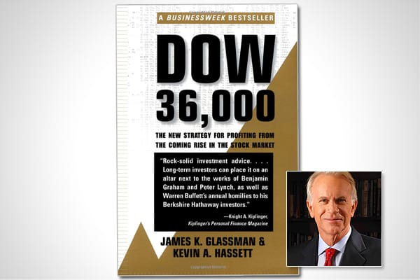"is a book written by James Glassman and Kevin Hassett. Published in 1999, it is an unmistakable product of a time when a bursting dot-com bubble was unimaginable, and irrational exuberance was contagious. The book's premise was that the boom times would cause the Dow Jones Industrial Average to rise to 36,000 within just a few years, and it offered advice on how best to cash in on this eventuality. The book's introduction states: ""If you are worried about missing the market's big move upward, yo"