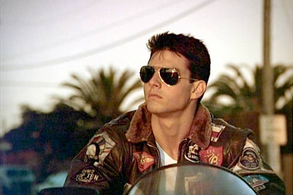 Few military films have been as successful as 1986's Top Gun. It stars Tom Cruise as Maverick, a US Navy pilot, and it features dazzling aerial footage that kept audiences coming back for more, eventually making it the highest-grossing film of the year. Just as he had done three years earlier in Risky Business, Cruise popularized another line of Ray-Ban sunglasses, the Aviator. The glasses were originally seen in newspaper photos of General Douglas MacArthur, who wore them when US forces landed