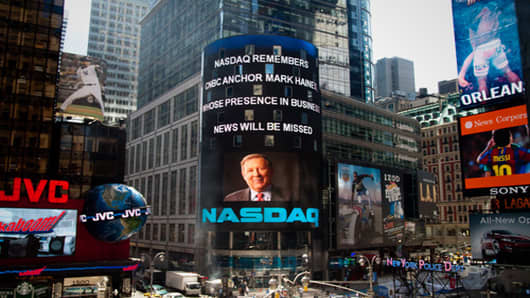 Nasdaq remembers Mark Haines