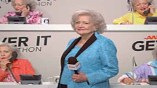 Betty White in an AARP commercial