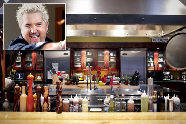 Cooking Credentials: restaurateur (Johnny Garlic's, Tex Wasabi's), cookbook author (Guy Fieri Food), TV host (Diners, Drive-Ins, and Dives)