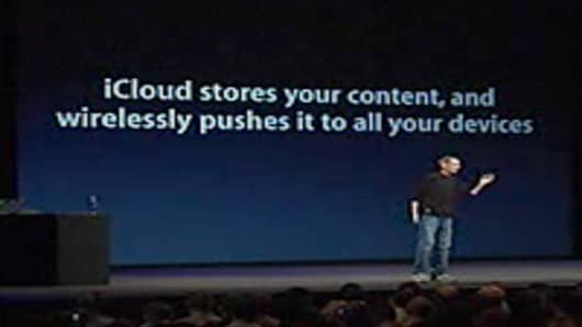 Steve Jobs introduced the iCloud
