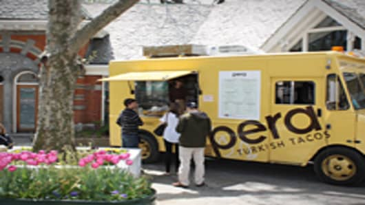 Pera Turkish Taco truck seen here at Tavern on The Green in New York City.