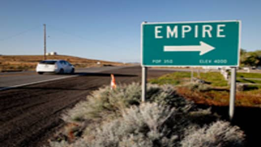 The company-owned town of Empire, which is 100 miles north of Reno, has closed after 87 years when United States Gypsum Company halted its gypsum mine and wallboard manufacturing operations in January.