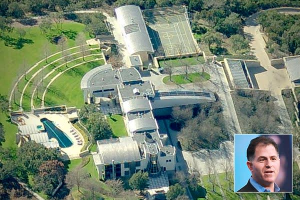 2010 Tax Assessor's Value: $18.5 millionLocation: Austin, TexasBeds/Baths: 8 bedrooms, 8 full bathrooms, 13 half bathroomsSquare feet: 33,000Michael Dell is the CEO of his namesake company, Dell, Inc. The second-largest PC manufacturer in the world, it sits at number 41 on the  list, and according to  almost half of the revenue taken in by the city of Round Rock, Texas, comes from sales taxes generated by the company's headquarters, which are located there.Dell lives in a residence befitting a m