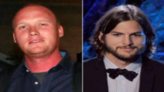 Bo Fishback (L) and Ashton Kutcher