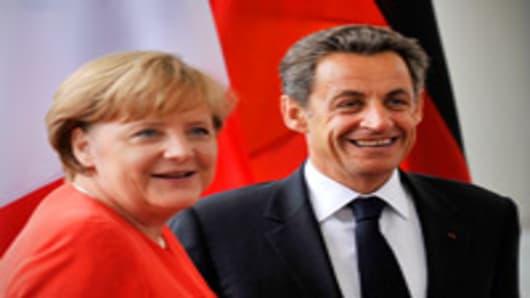 Merkel And Sarkozy Meet Amid Greece Crisis