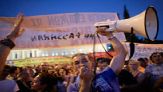 Protests in Athens, Greece