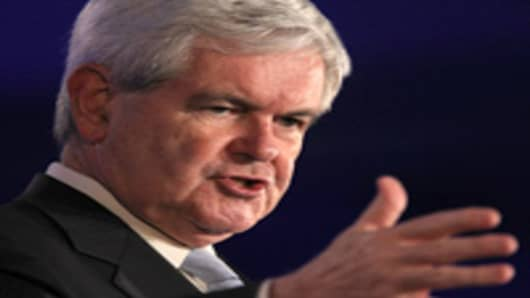 Former U.S. Speaker of the House and Republican candidate for president Newt Gingrich speaks during the 2011 Republican Leadership Conference on June 16, 2011 in New Orleans, Louisiana.
