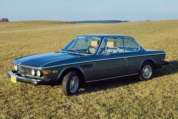 "Production: 1971-1975Units Built: 11,603Body Style: CoupeHorsepower: 180Today's Value Range: $30,000 - $50,000Marketed at the time as BMW's top-of-the-line model, the 3.0 CS was touted as having rich and famous owners, including celebrities and ""even a dash of royalty."""