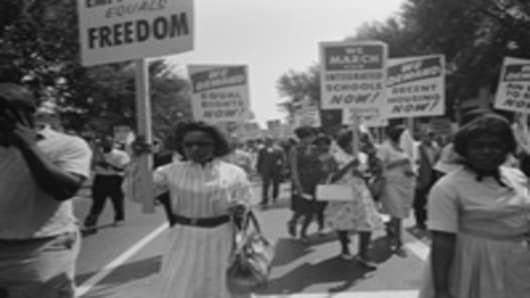 Civil rights march on Washington, DC