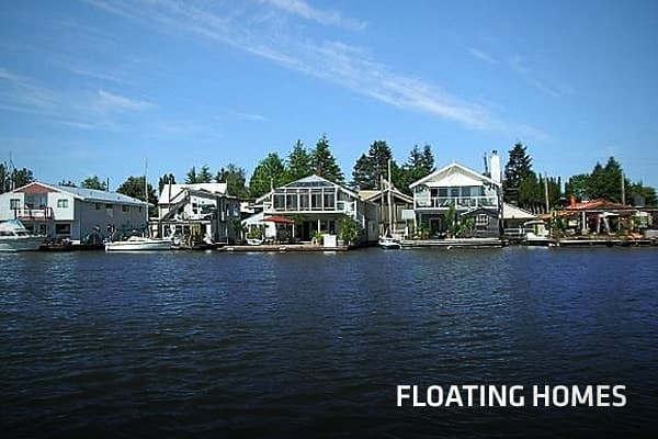 "First, let's distinguish floating homes from houseboats. ""A 'floating home' is a legally-permitted structure, with no means of self-propulsion, which occupies a permanent berth and is subject to property taxes,"" according to the . They're basically on concrete barges, so occupants don't experience much movement.So how do landlubbers come to live on the water? For Amanda Pleva, the opportunity to live in one such home came through a friend who lives in the community at Waldo Point in Sausalito, C"