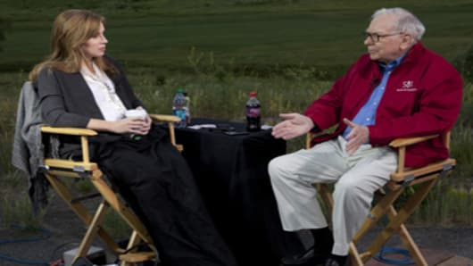 CNBC's Becky Quick and Warren Buffett in a live interview from Sun Valley, Idaho