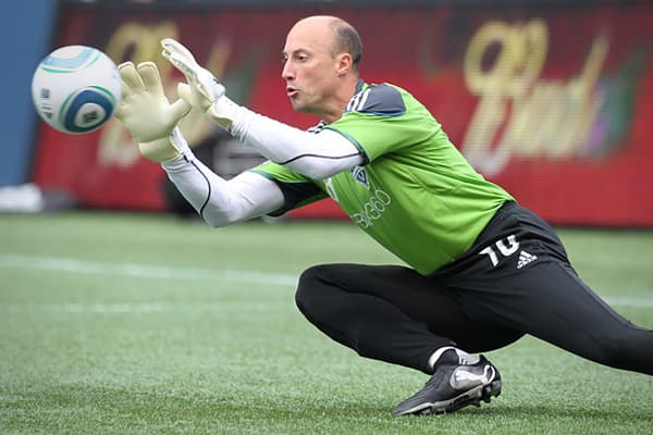 Age: 41Kasey Keller is a Major League Soccer player who is currently a member of the Seattle Sounders. He has participated in the World Cup four times and was the first U.S. goalie to play for Germany's professional league as well as those of both England and Spain.After playing for Fullham, he returned to America and joined the newly created Seattle team, tending goal for them in their very first game, which they won. The game took place on March 19, 2009, seven months shy of Keller's 40th birt