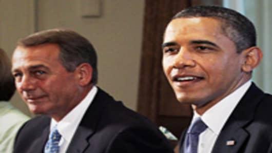 President Obama and Speaker of the House Rep. John Boehner