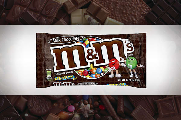 Revenue Generated: $406.7 million Unit Sales: 417.7 million The best-selling chocolate treat on our list has been around since 1941 and was designed by Forrest Mars Sr. so that consumers could enjoy their chocolate without having it melt in their hands. M&Ms, which was named after its inventors Forrest Mars and R. Bruce Murrie, were served to GIs serving in World War II and went on its first space mission in 1982. M&Ms are red, yellow, blue, orange and green, but its red that gets top billing –
