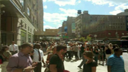 Streets of NYC after the earthquake on Auguat