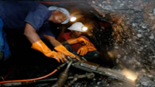 The deepest mine in the world. The Mponeng mine owned by AngloGold Ashanti, just one hour outside of Johannesburg.