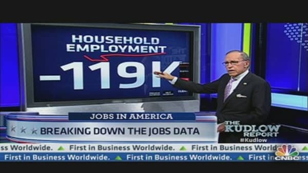 Kudlow: Jobs Report a Disaster for Obama