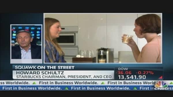 Schultz on Starbucks-Green Mountain Deal