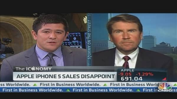 Apple iPhone 5 Sales Disappoint