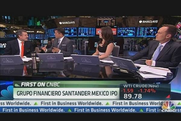 Santander's Mexico Unit Celebrates IPO