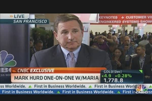 Mark Hurd: Oracle Doing Well & Gaining Share