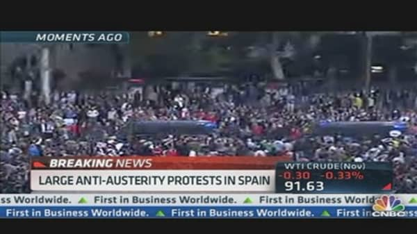 Spain Austerity Protesters Clash with Police